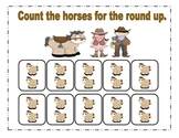 Cowboy Count by 2's Math Center