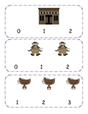 Cowboy Counting Clip Cards