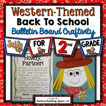 Cowboy / Cowgirl Craftivity --- Western Back-To-School Bulletin Board Craft