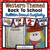 Cowboy / Cowgirl Craftivity --- Western Back-To-School Bulletin Board Craft