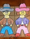 Cowboy Cowgirl Paper Bag Puppet
