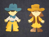 Cowboy & Cowgirl Student Display Clips