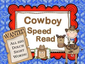 Cowboy Dolch Speed Read