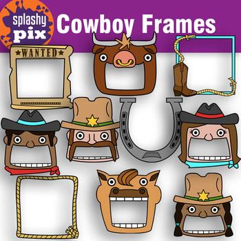 Cowboy Frame Clipart