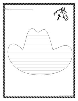 Cowboy Hat Writing Paper