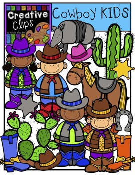 Cowboy KIDS {Creative Clips Digital Clipart}