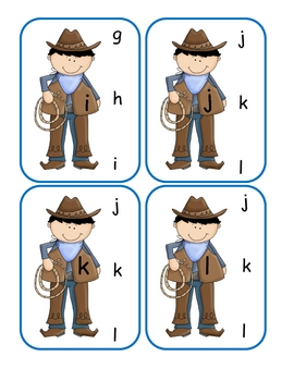 Cowboy Lower to Lower Clip Cards