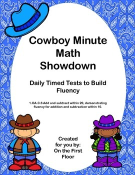 Cowboy Minute Math Showdown Daily Timed Tests to Build Addition Fluency