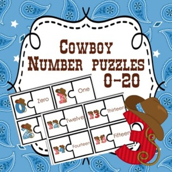 Cowboy Number Puzzles 0-20