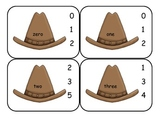 Cowboy  Number Word Clip Cards