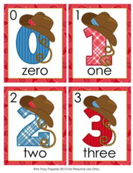 Cowboy Number Words Write the Room Activity