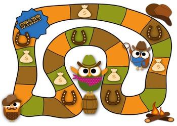 Cowboy Owls Game Board
