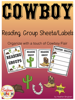 Cowboy Reading Group Labels/Sheets