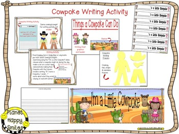 Cowboy Reading,Writing,Poetry & Character Trait Activities ~I'm a Little Cowpoke
