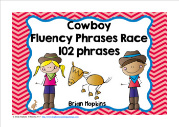 Cowboy Sight Word Fluency Phrases Race