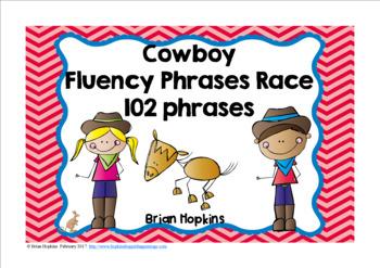 Cowboy Sight Word Fluency Phrases Race