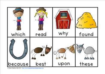 Cowboy Sight Word Race