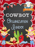 Cowboy Student Organization and Parent Communication Binder {personalize it}