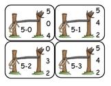 Cowboy Subtraction Clip Card Math Center