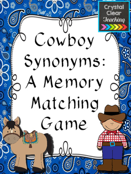 Cowboy Synonyms: A Memory Matching Game