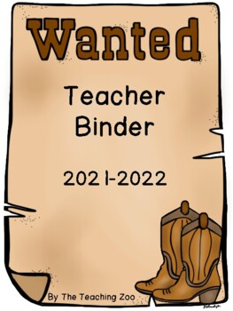 Cowboy Teacher Binder {FREE yearly updates!}
