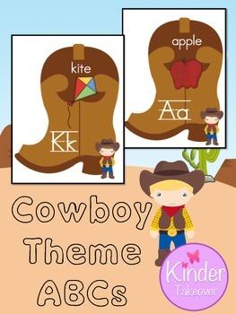 Cowboy Theme ABC Posters