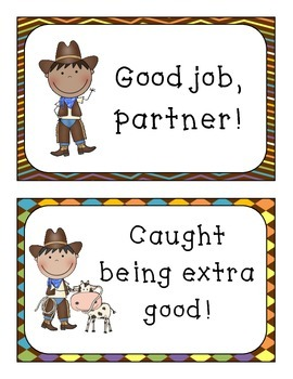 Cowboy Theme Behavior Management Posters