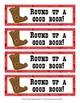 Cowboy Western Theme Bookmarks