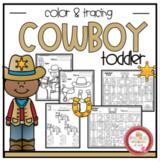 "Cowboy Theme Coloring and Scissor Practice ""No Prep"""