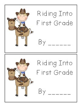 """Cowboy Theme """"Getting to Know You"""" Back to School Book"""