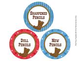 Cowboy Theme Pencil Caddy Labels