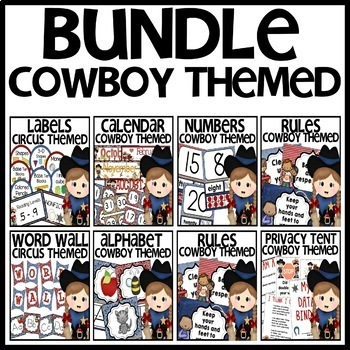 Cowboy Themed BUNDLE
