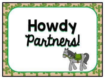 Cowboy Themed Behavior Clip Chart