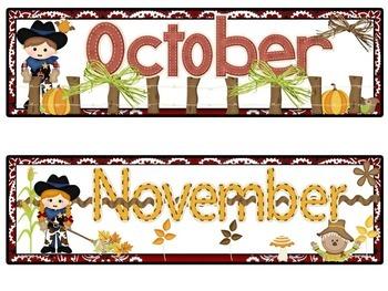Cowboy Themed Calendar