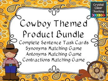 Cowboy Themed Center Bundle