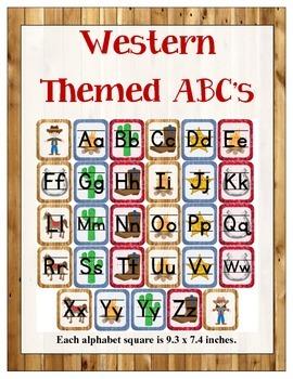 Western/Cowboy Themed Classroom ABC's