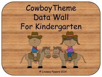 Cowboy Themed Data Wall for Kindergarten
