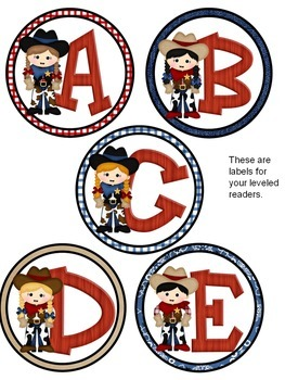 Cowboy Themed Labels (also editable)