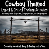 Cowboy Themed Logic and Critical Thinking Activities