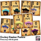 Cowboy Themed Numbers Posters to Print - One to Ten for We