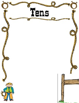 Cowboy Themed Place Value Mats with Number Cards **Download FREE PREVIEW