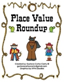 Cowboy Themed Place Value Mats with Number Cards **Downloa