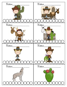 Cowboy Themed Punch Cards