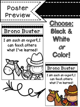 Cowboy Themed Self-Assessment Posters