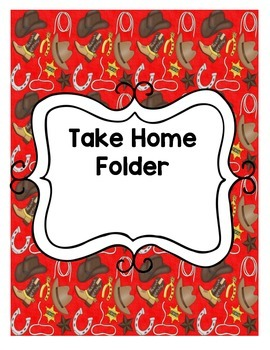 Cowboy Themed Take Home Folder printable