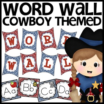 Cowboy Themed Word Wall