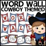 Cowboy Themed Word Wall