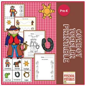 Cowboy Toddler Printable