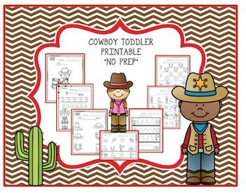 Cowboy Toddler Printable No Prep