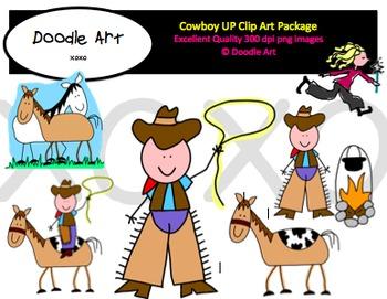 Cowboy Up Clip Art Pack